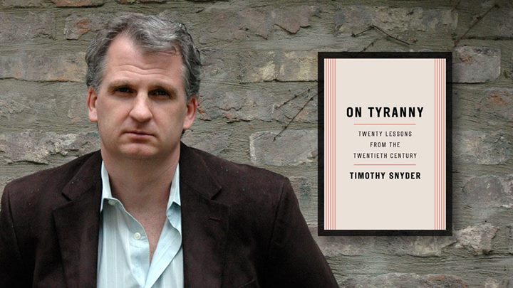 On Tyranny: Twenty Lessons from the 20th Century Book Cover